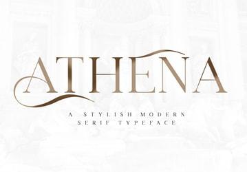 Athena - Stylish Modern Serif Font