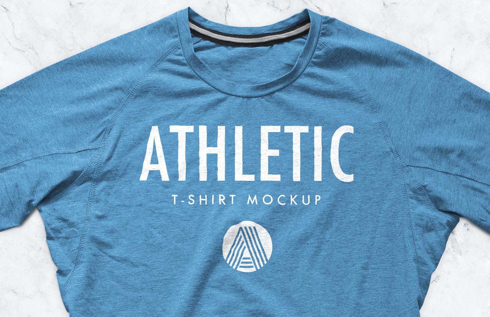 athletic t shirt mockup psd medialoot