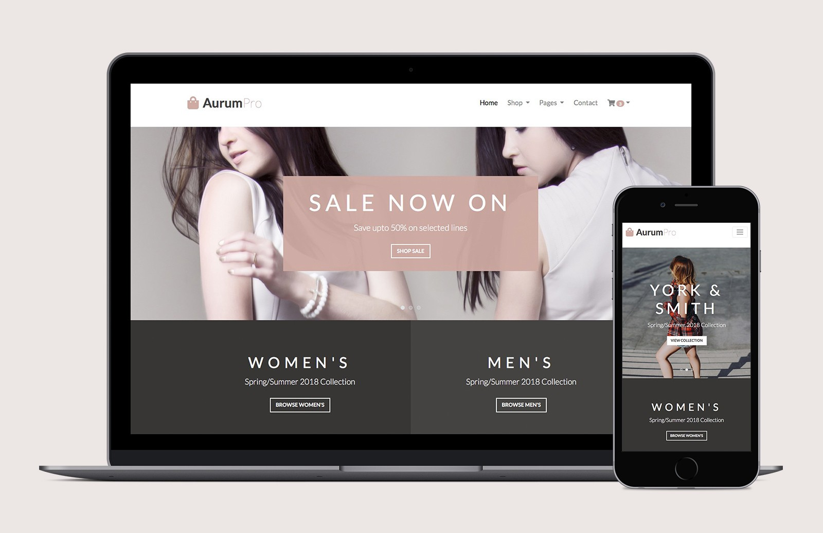 Aurum - Free Bootstrap 4 Ecommerce Template