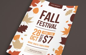 Autumn Fall Festival Flyer Template