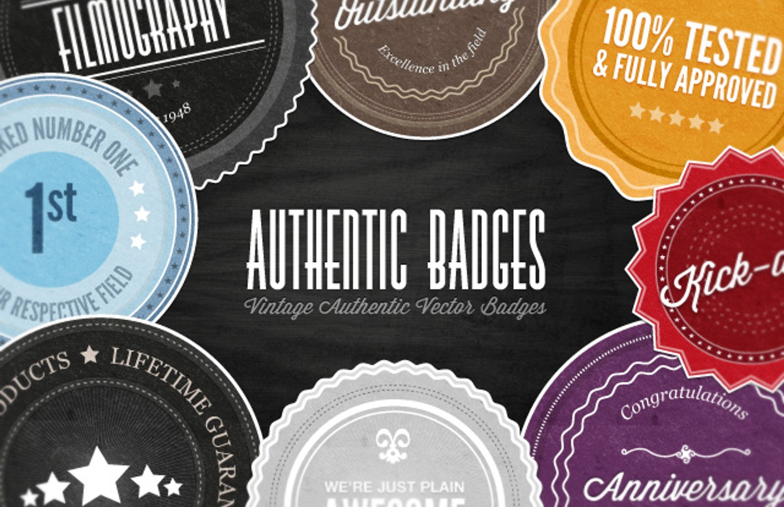 Authentic  Vector  Badges  Preview1