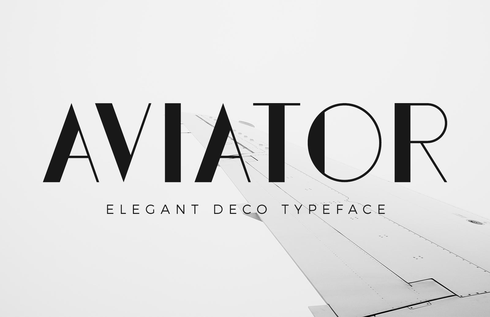 Aviator Elegant Deco Font Preview 1
