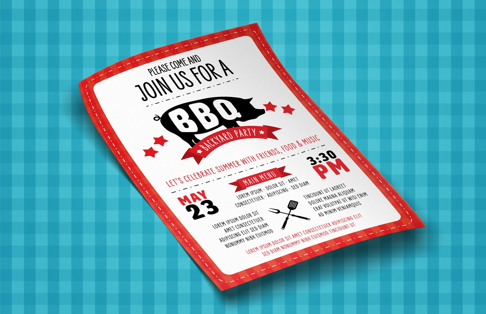 Bbq Flyer Template Preview 1