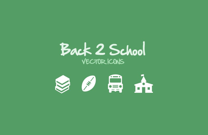Back 2 School Vector Icons
