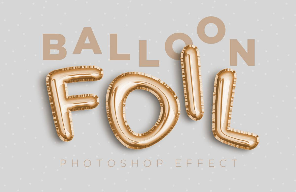 Balloon Foil Effect Preview 1