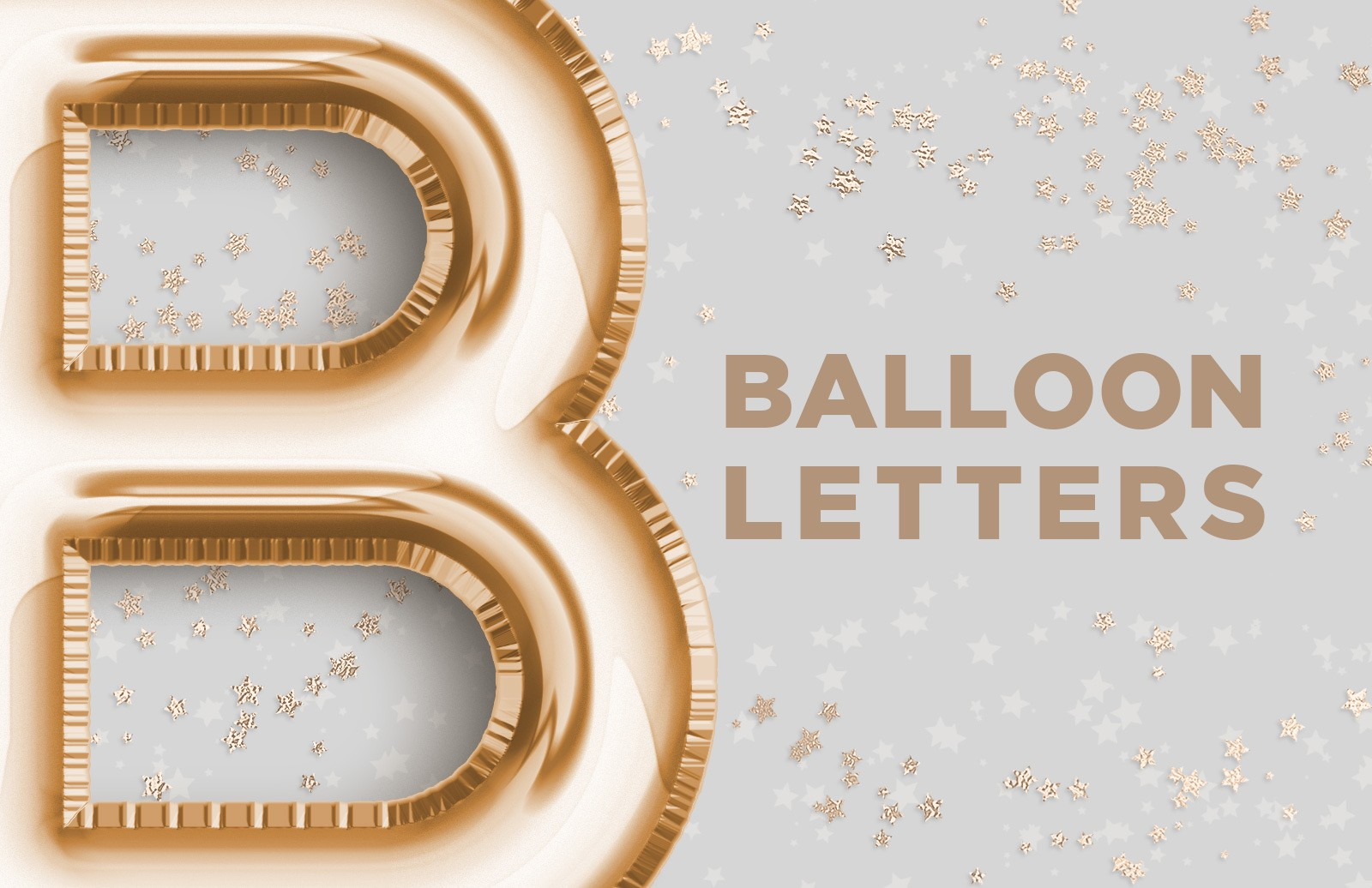 Balloon Foil Letters Preview 1
