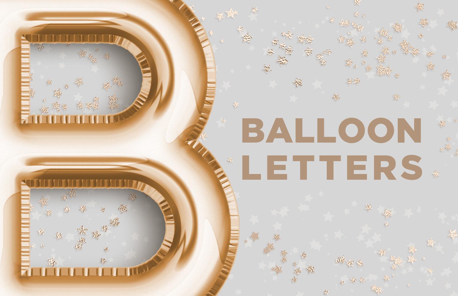 Balloon Foil Letters
