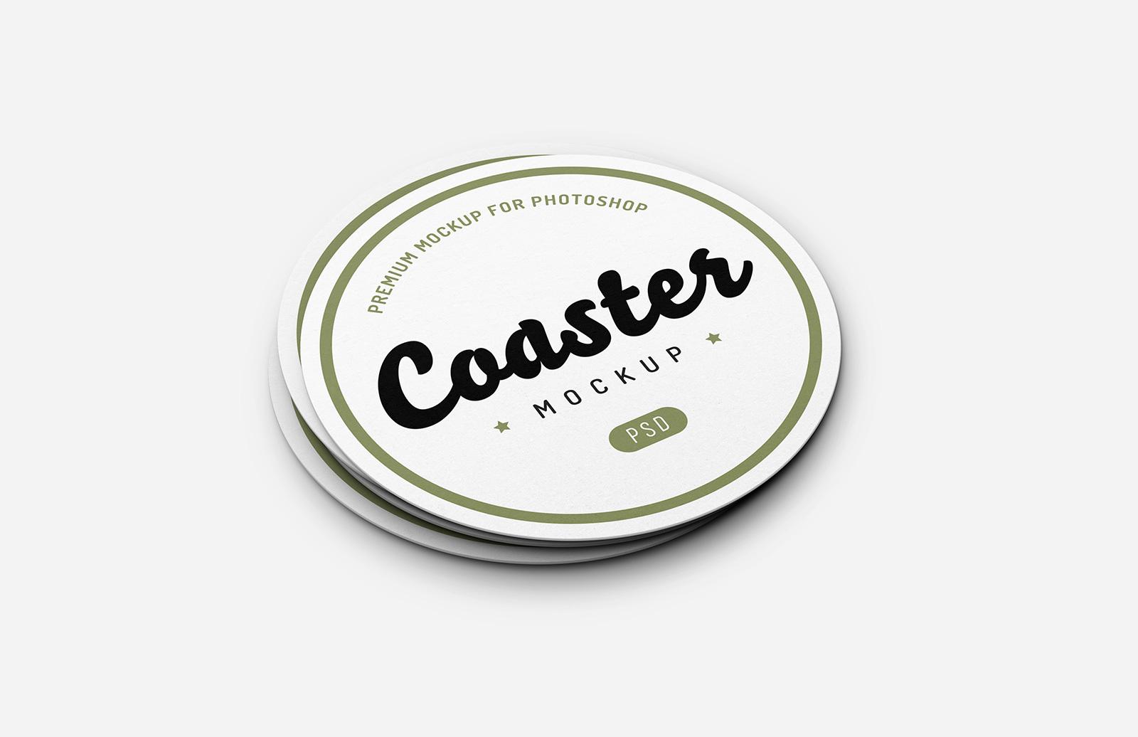 Bar Coaster Mockup Preview 1
