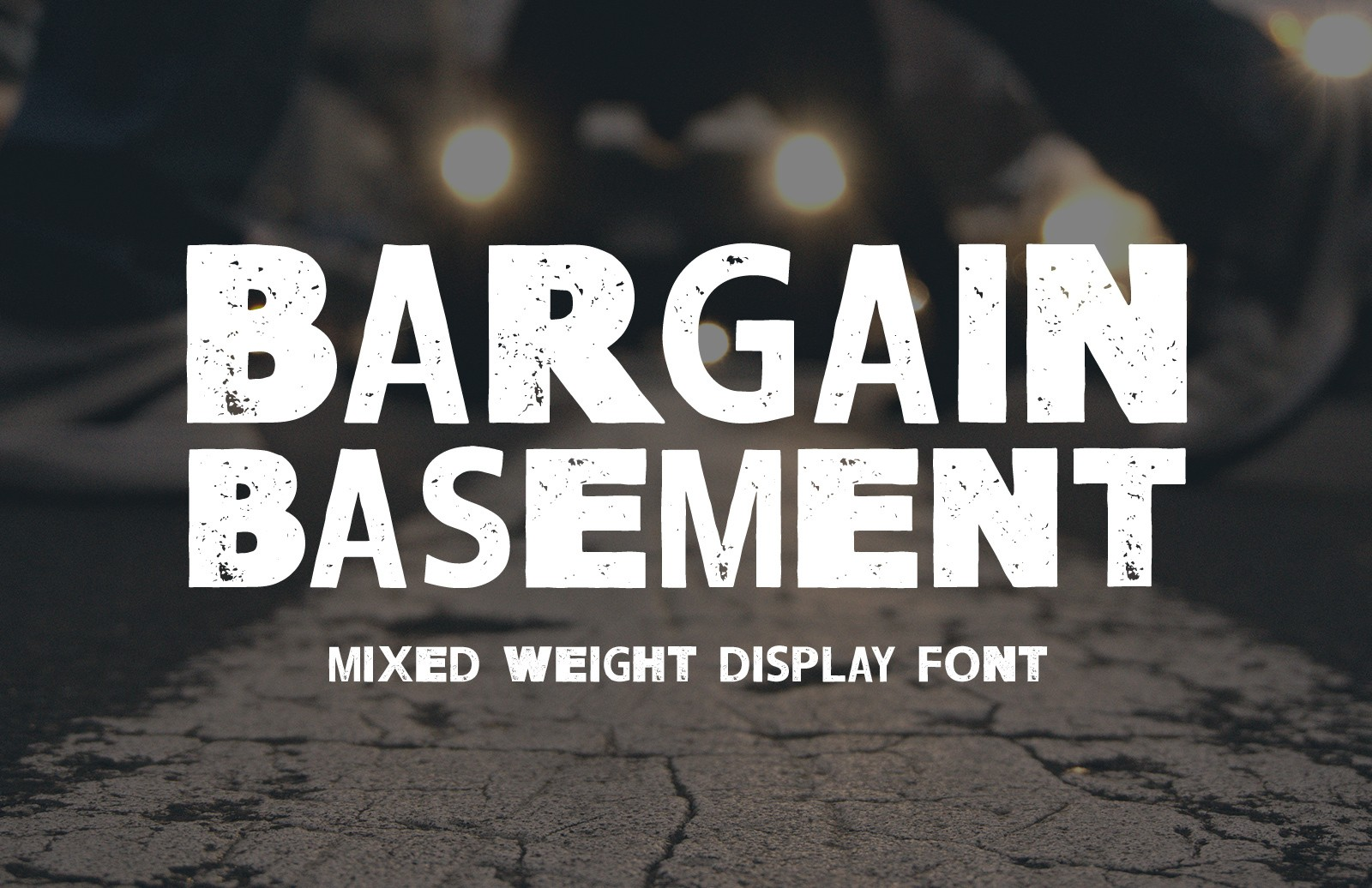 Bargain Basement Display Font Preview 1