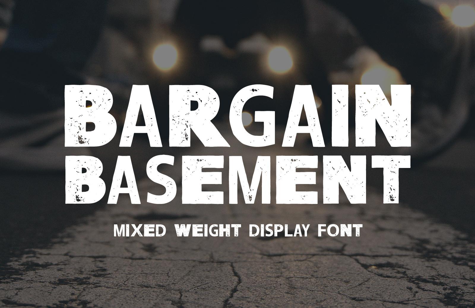 Bargain Basement - Mixed Weight Font