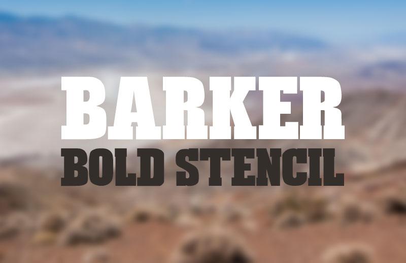 Barker Bold Stencil Web Font