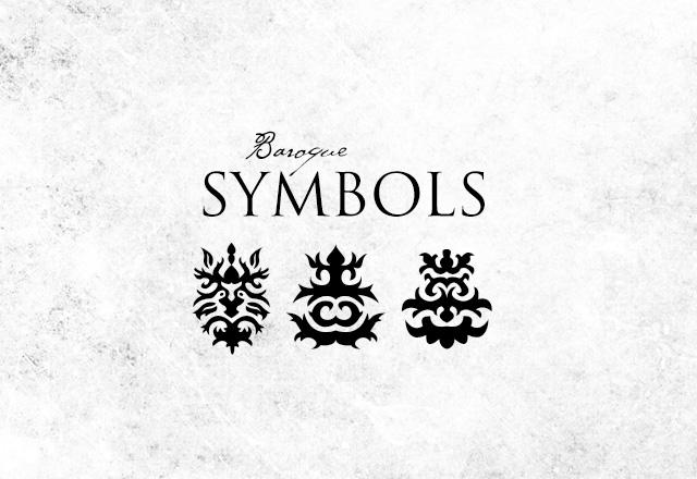 Vector Baroque Symbols