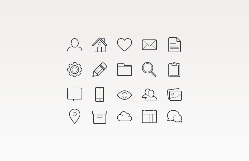 Large Basic  Vector  Icons  Preview 2