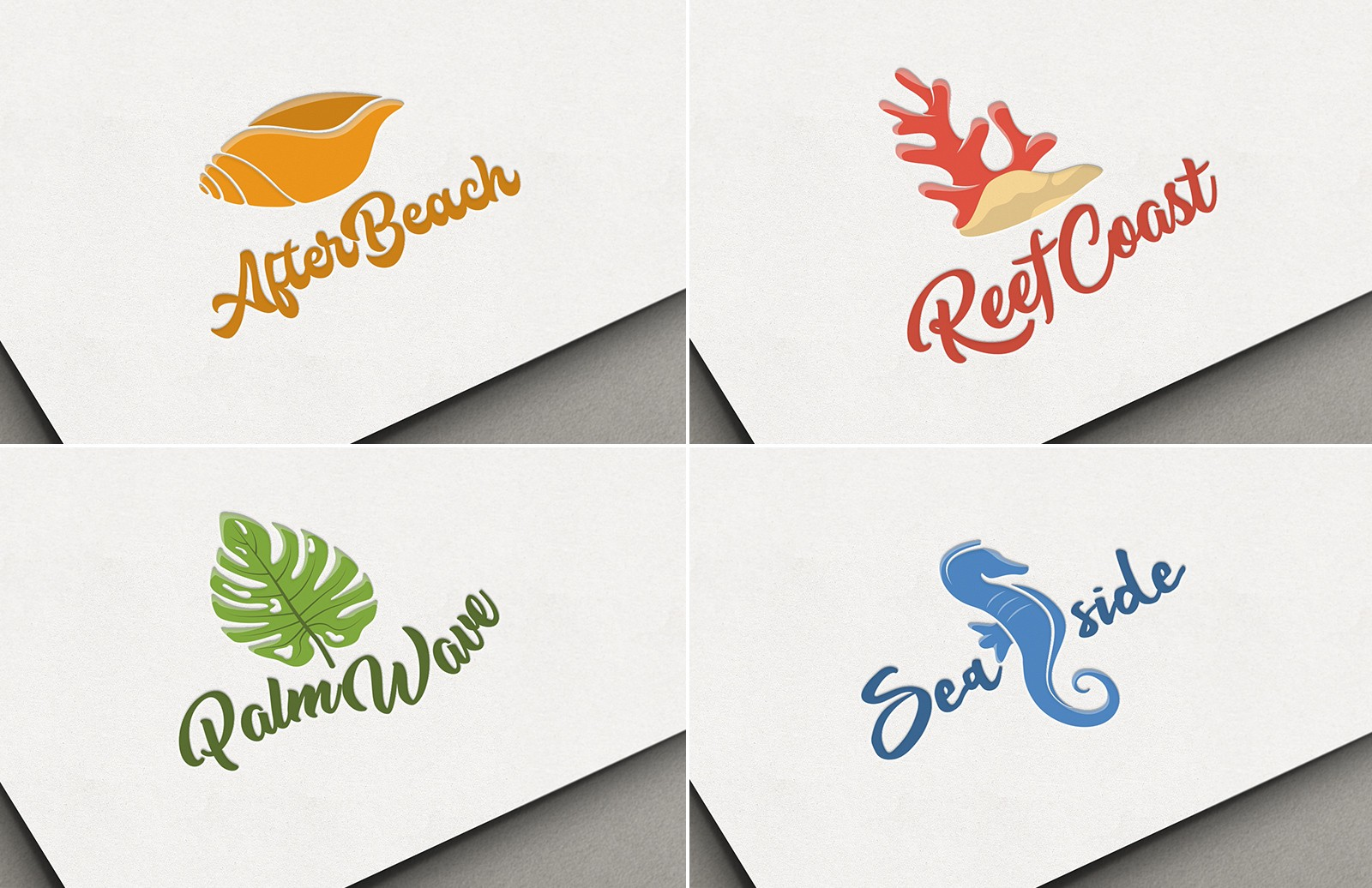 Beach Logo Templates Preview 1
