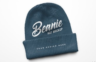 Beanie Winter Hat Mockup