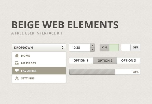 Beige Web Elements