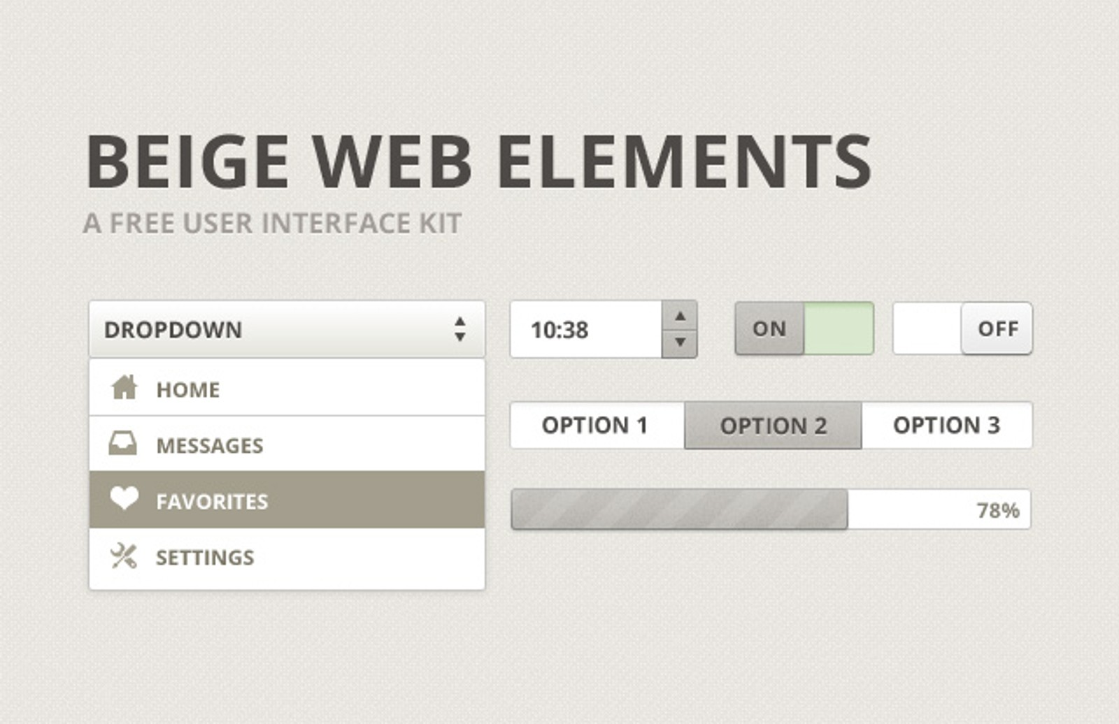 Beige  Web  Elements  Preview1