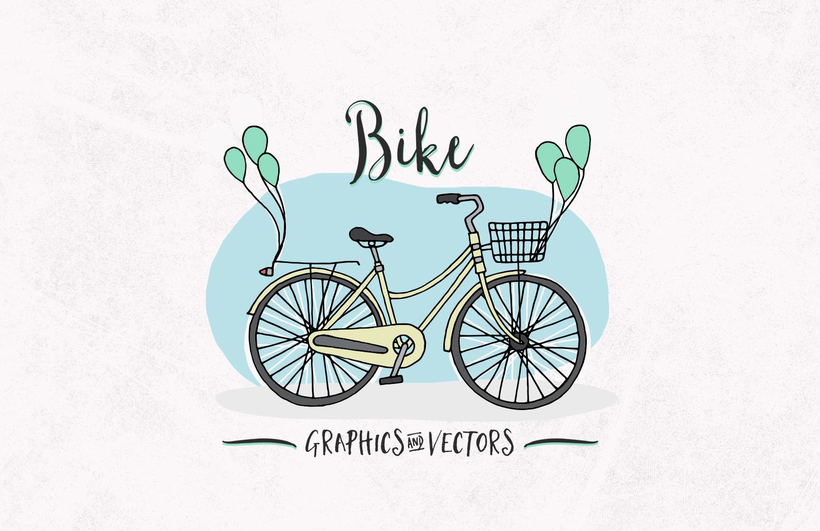 Bike Graphics Vectors Preview 1