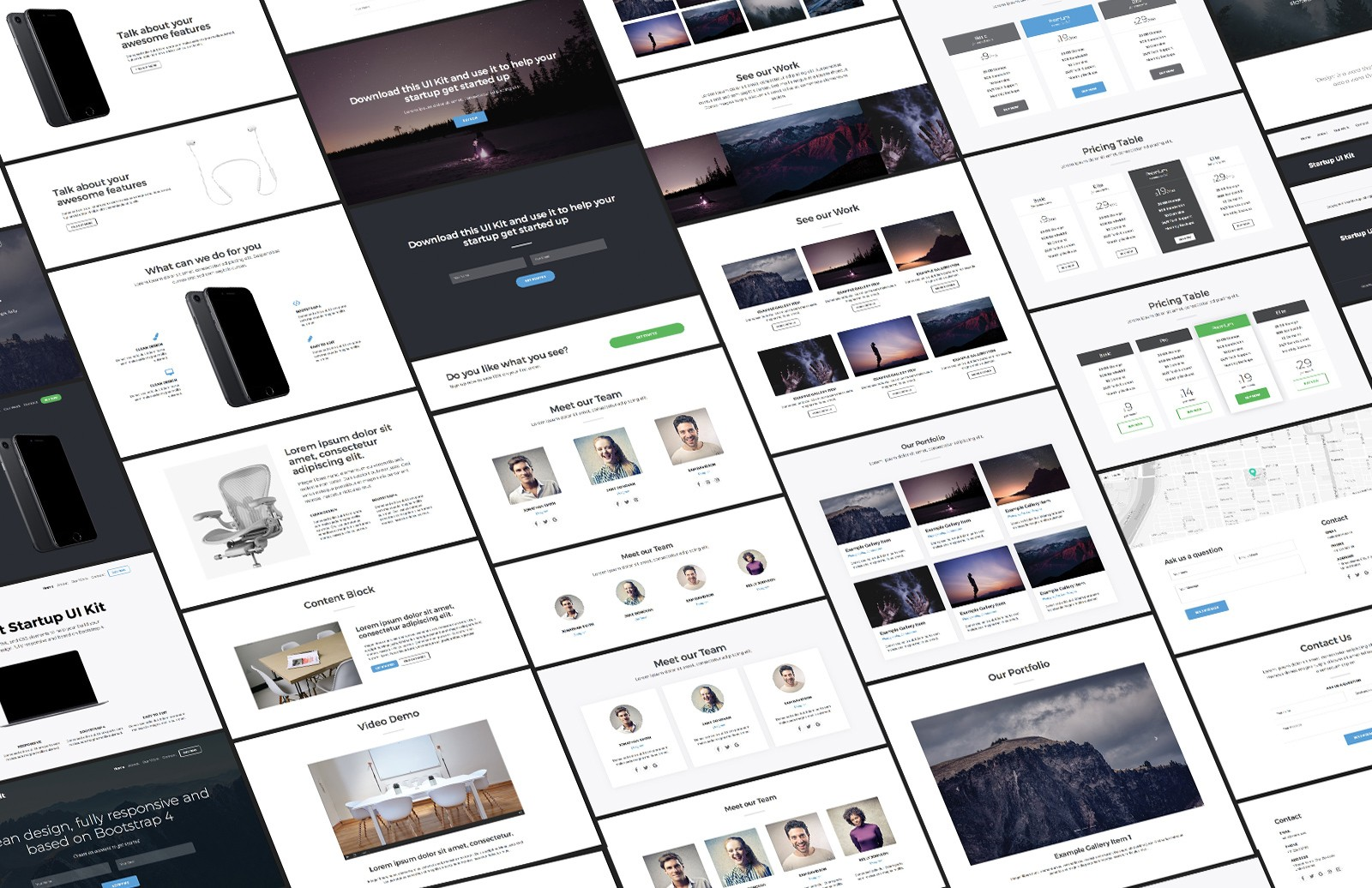 Large Bootstrap Startup Ui Kit 2 Preview 1
