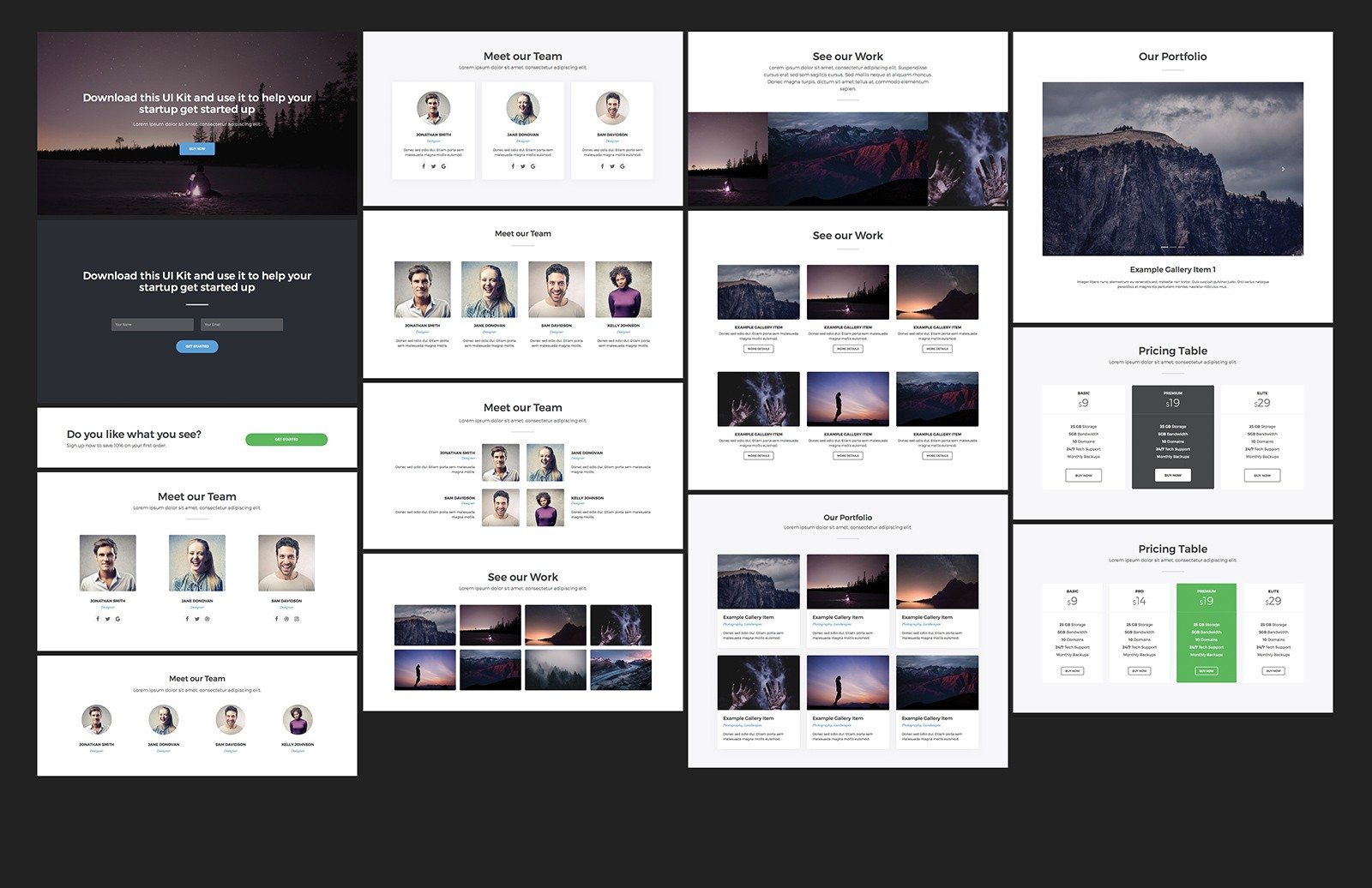 Large Bootstrap Startup Ui Kit 2 Preview 3