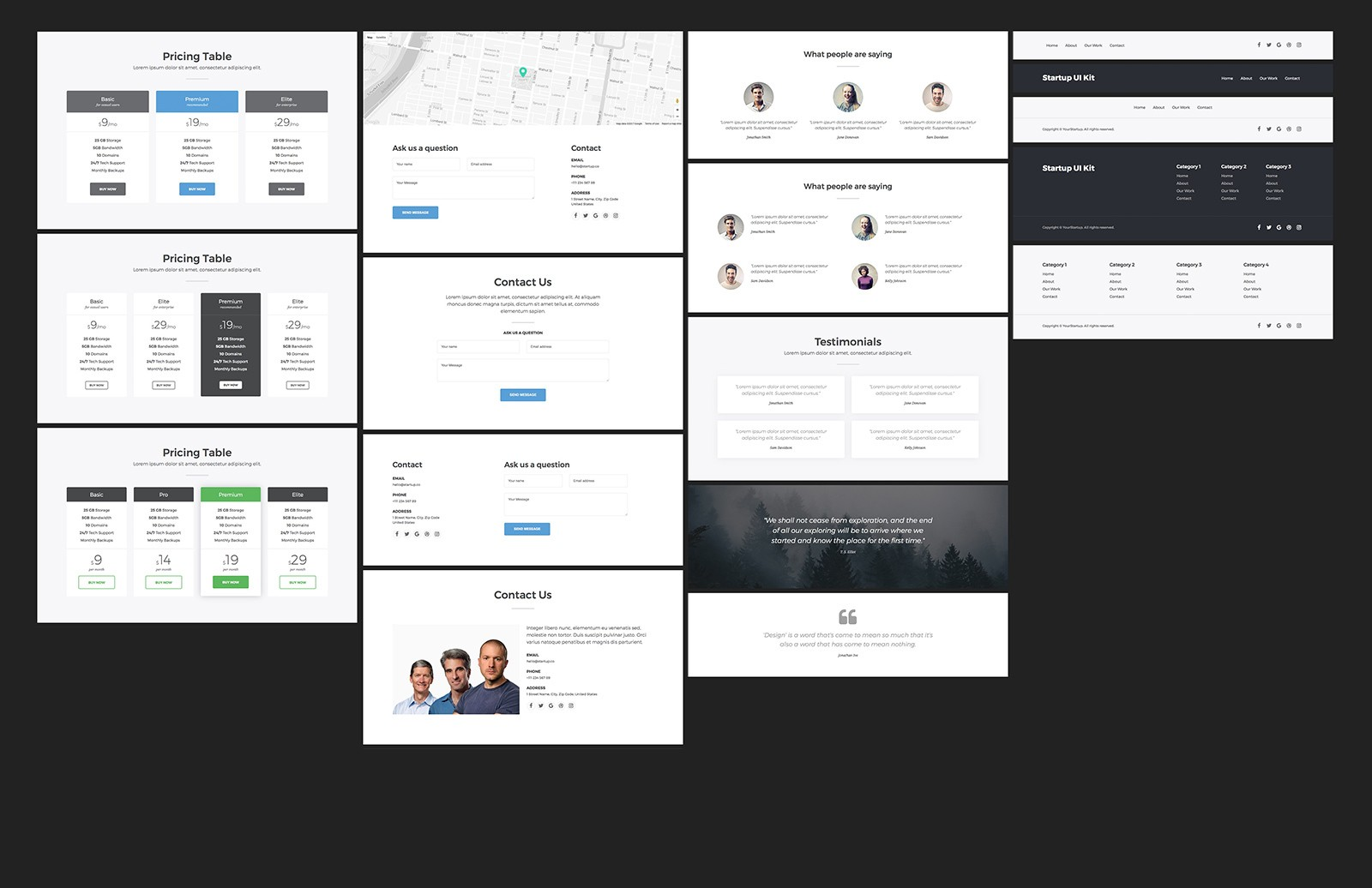 Large Bootstrap Startup Ui Kit 2 Preview 4