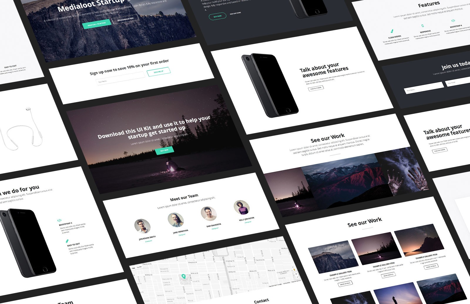 Bootstrap Startup UI Kit