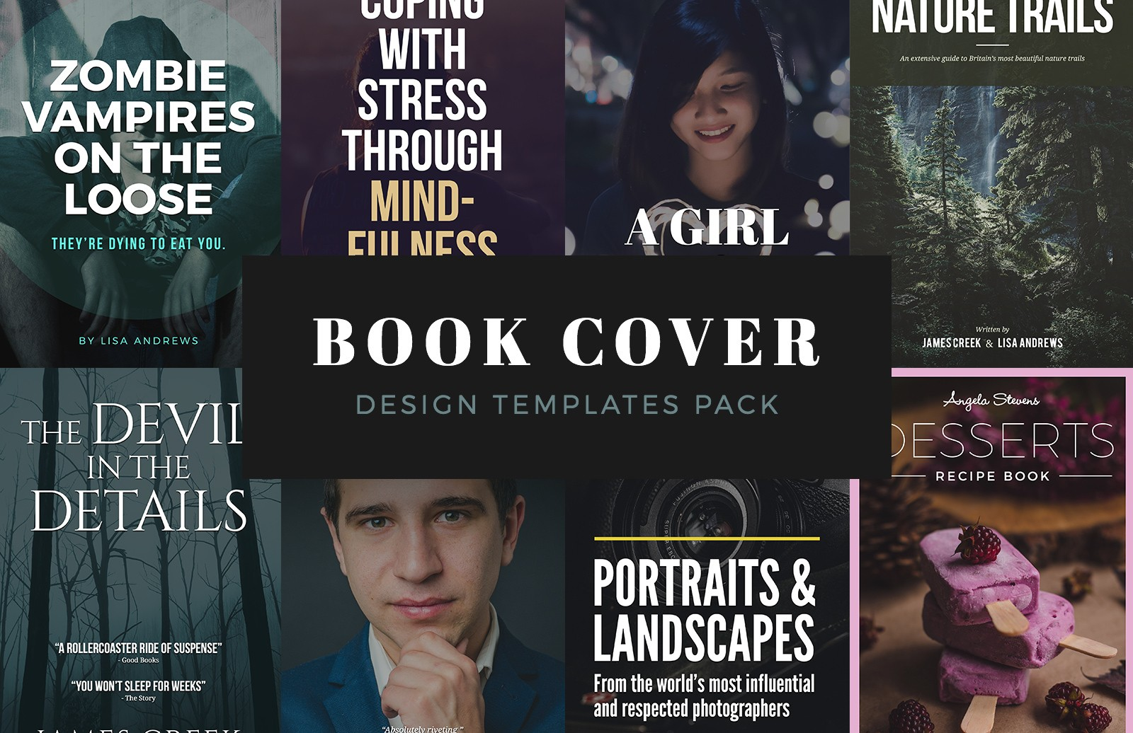 Book Cover Design Templates Preview 1