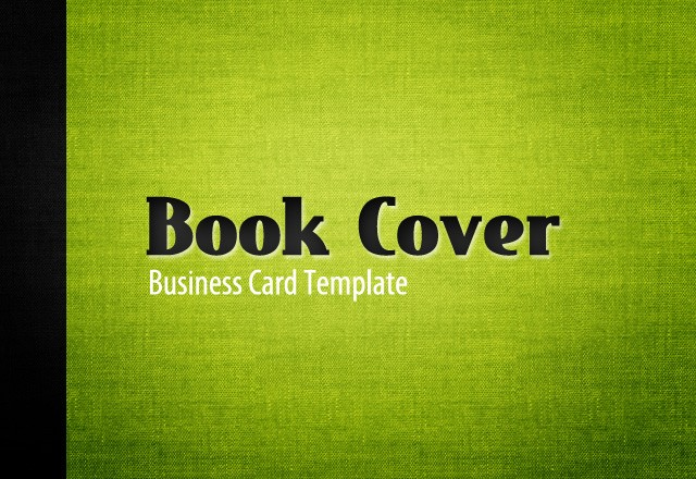 Book Cover Business Card Template