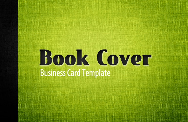 Business Book Cover Template ~ Book cover business card template — medialoot
