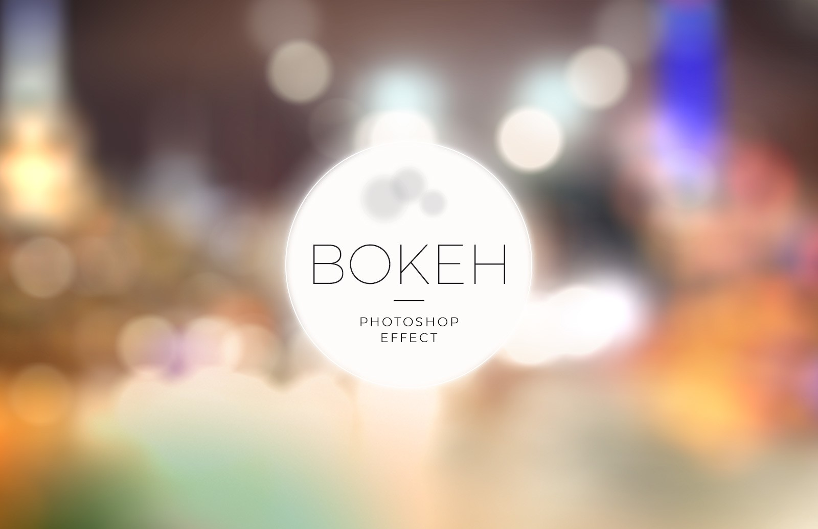Bokeh Photoshop Effect