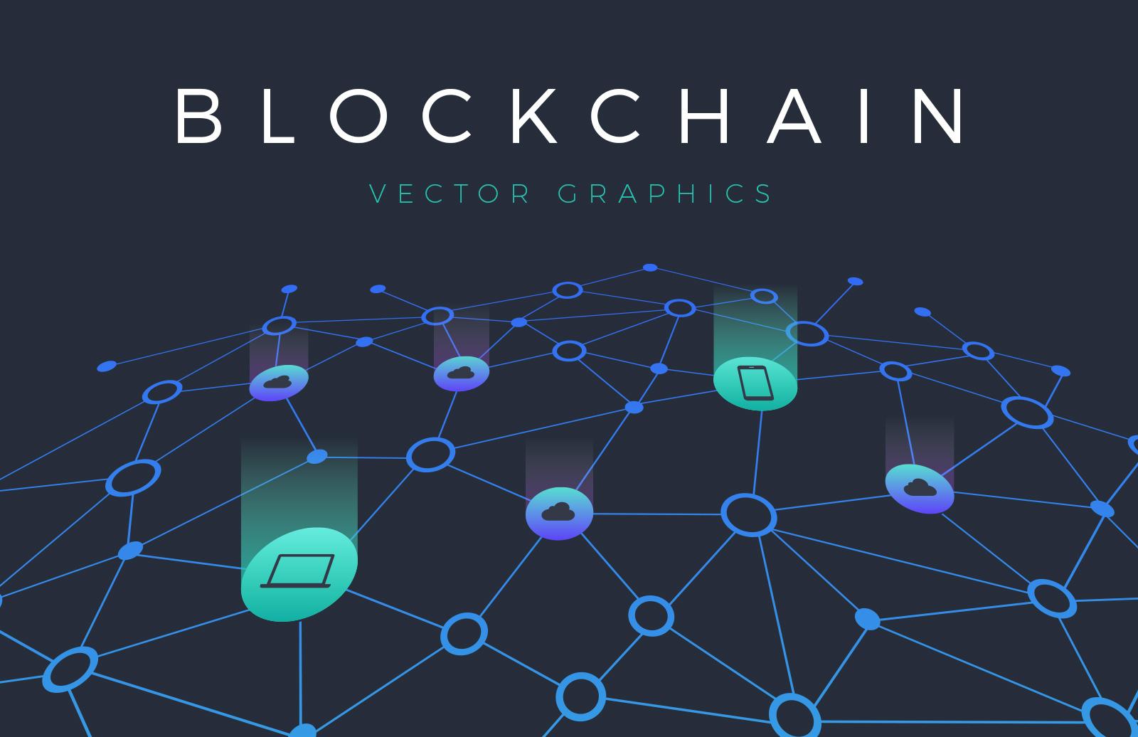 Blockchain Vector Graphics