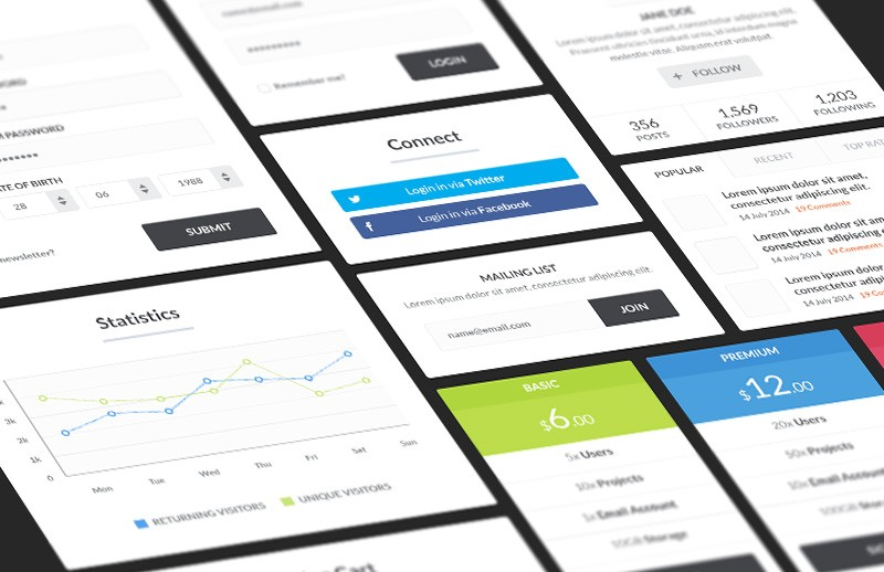 Large Blocky  Ui  Kit  Preview 1