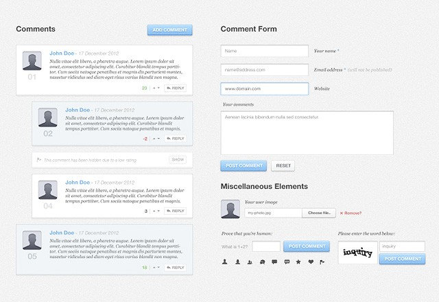 Blog Comments UI Kit