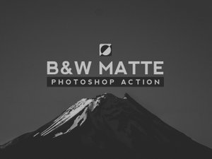 Black & White Matte Photoshop Action 1