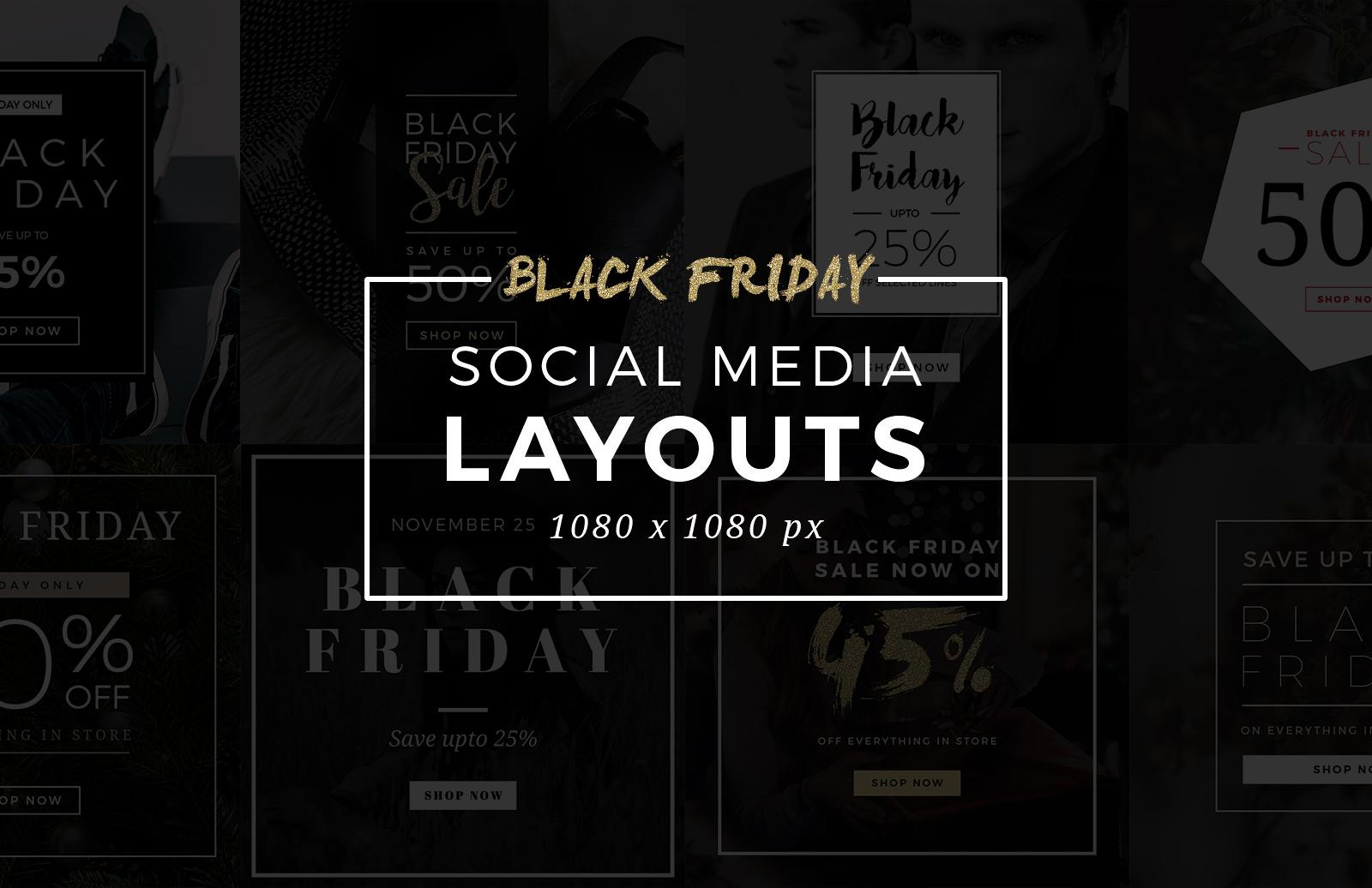 Black  Friday  Social  Media  Layouts  Preview 1