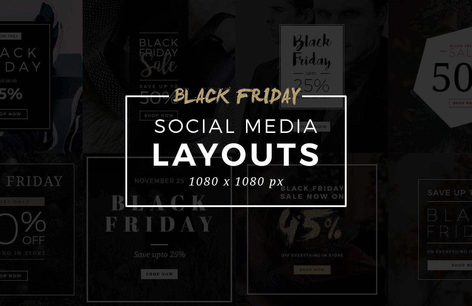 Large Black  Friday  Social  Media  Layouts  Preview 1