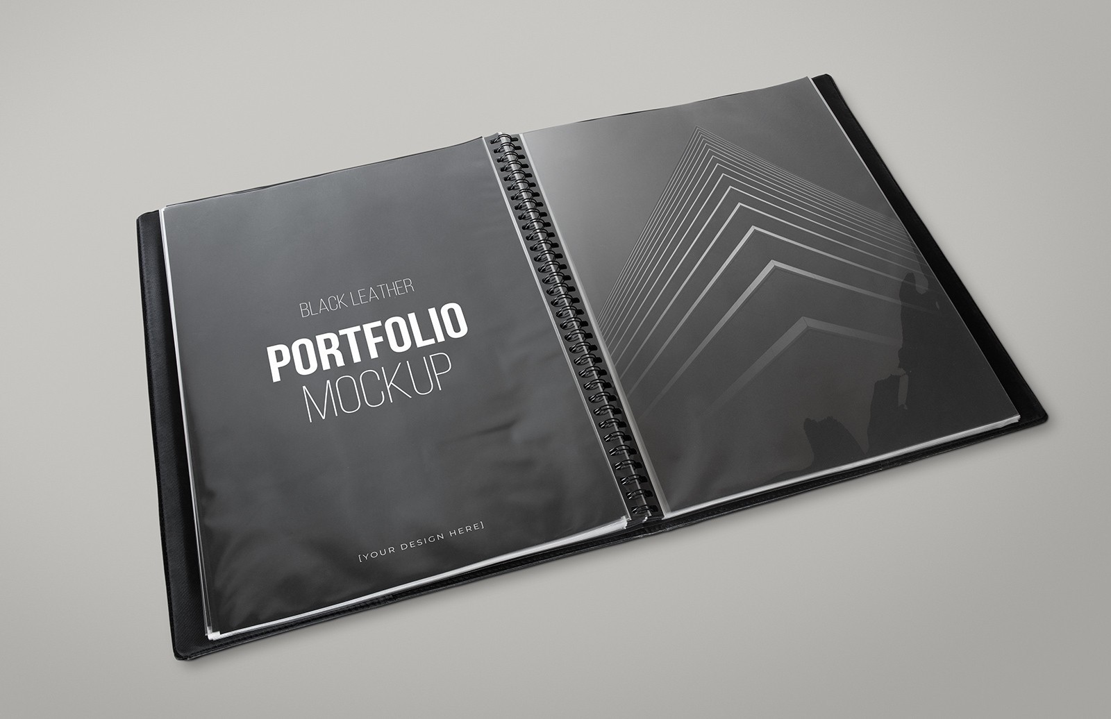 Black Leather Portfolio Mockup Preview 1