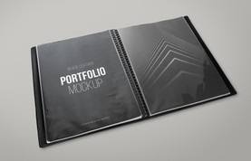 Black Leather Portfolio Mockup