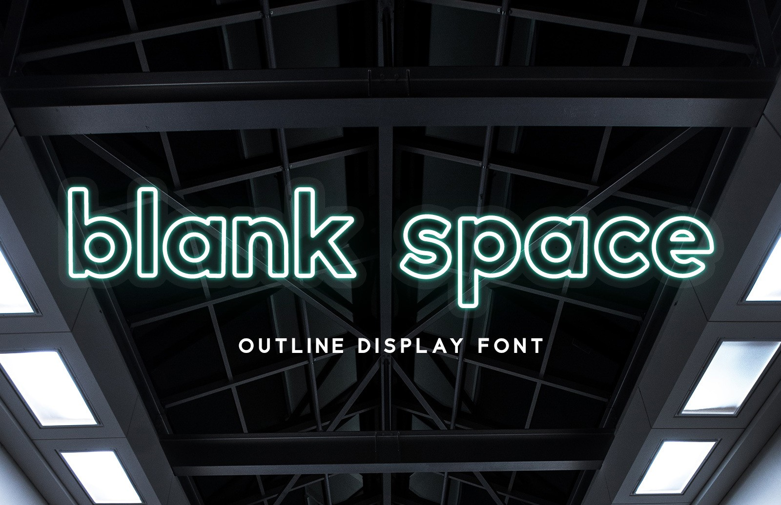 Blank Space Outline Font Preview 1