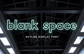 Blank Space - Outline Font