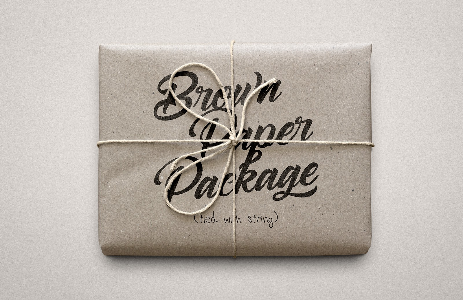Brown Paper Package Mockup Preview 1