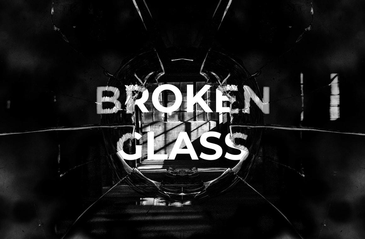 Broken Glass Photo Effect Mockups