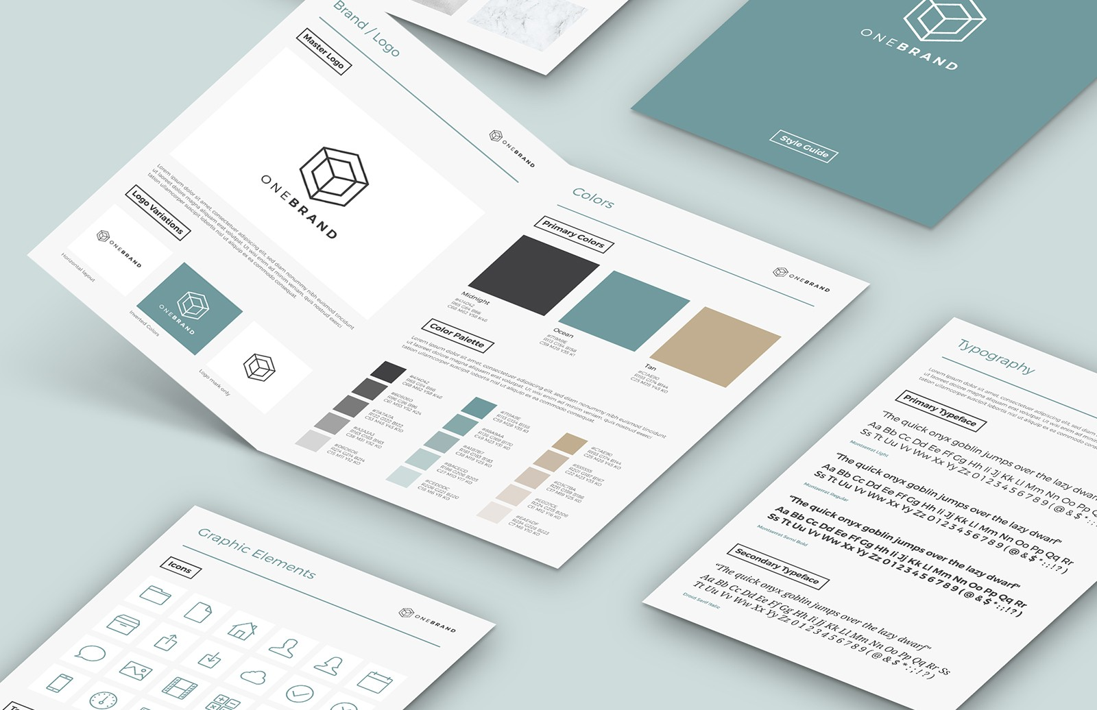 Brand Style Guide Template Preview 1