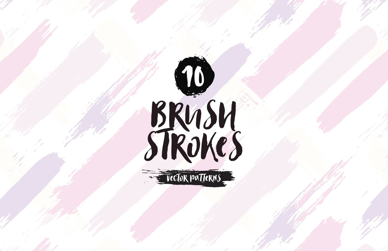 Brush Strokes Vector Patterns Preview 1