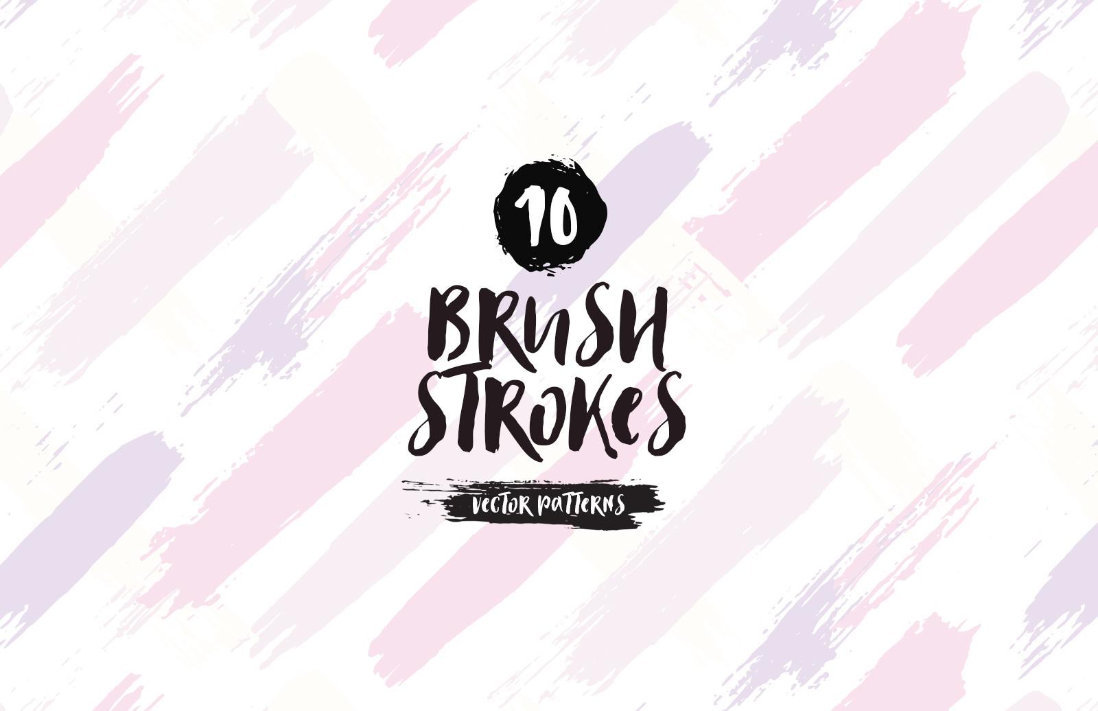 Brush Strokes Vector Patterns