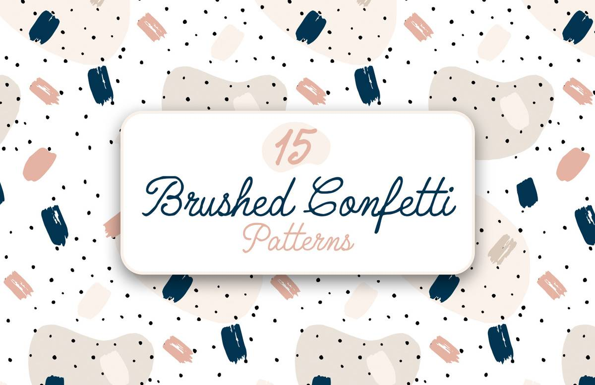 Brushed Confetti Patterns Preview 1