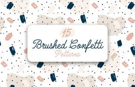 Brushed Confetti Patterns