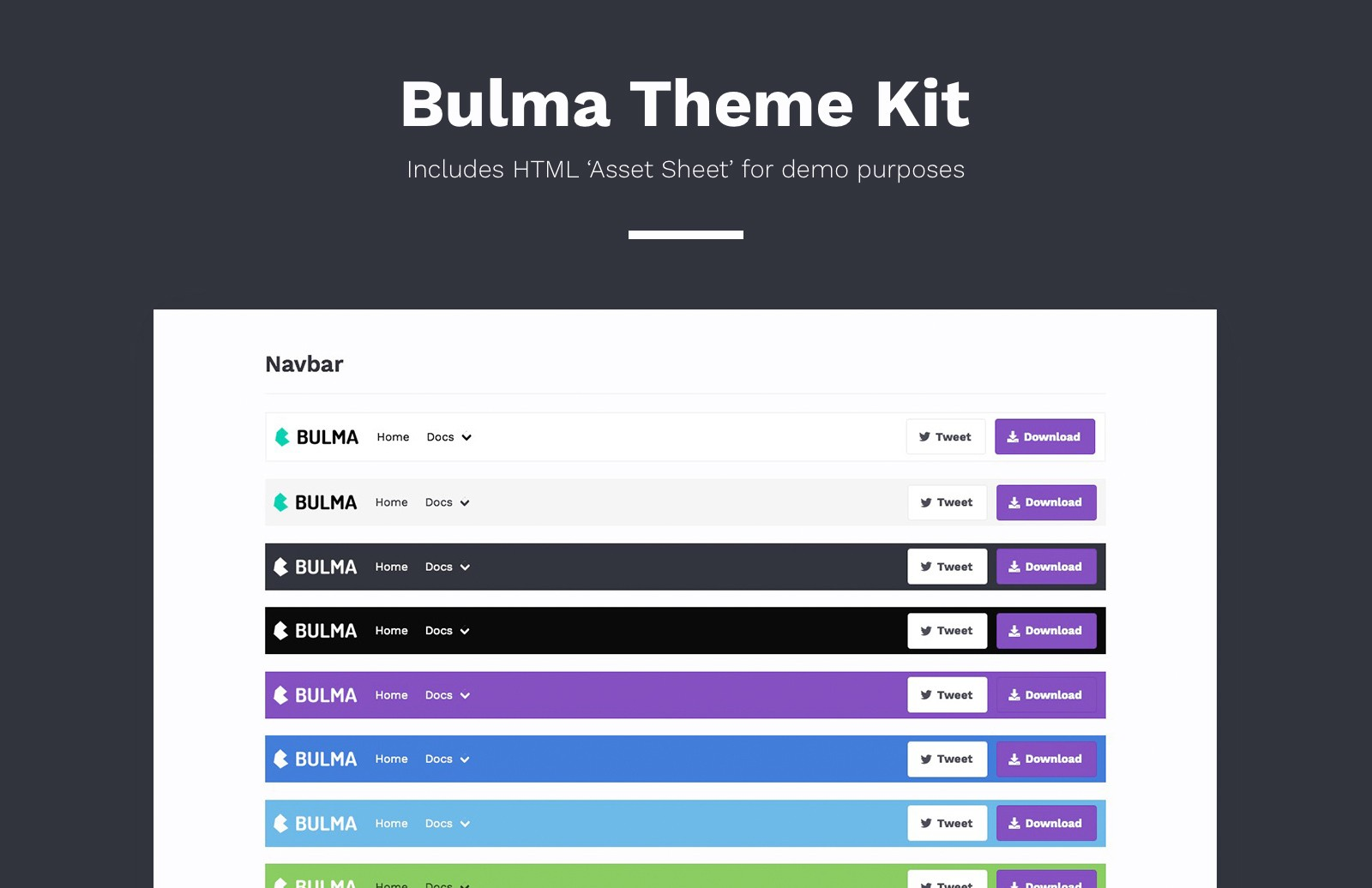 Free Bulma SASS Theme Kit