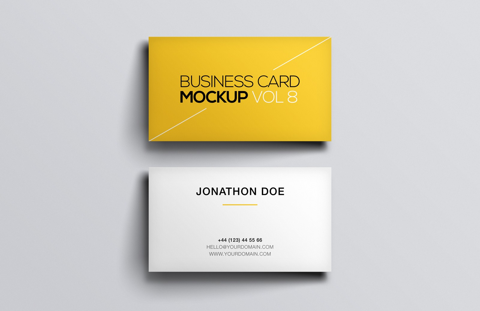 Business Card Mockup Vol 8 — Medialoot