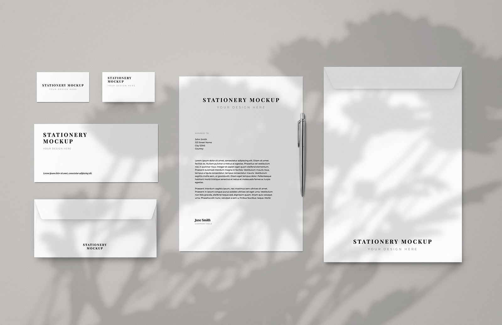 Business Stationery Envelope Mockup Preview 1